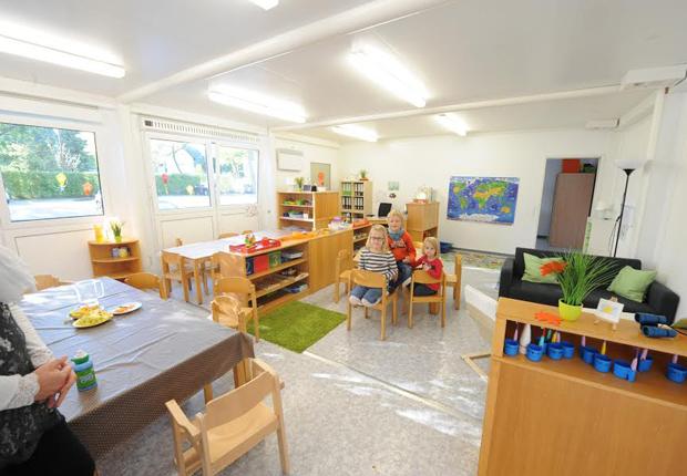 Mit ELA Räumen schnell und flexible Raum schaffen – hier für den Kindergarten der Samtgemeinde Hövelhof. (Foto: ELA Container GmbH)
