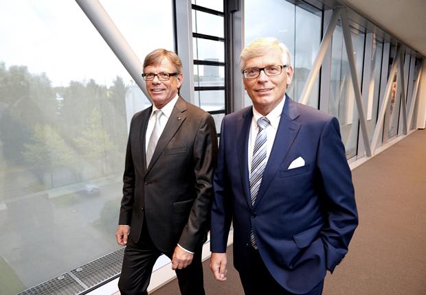 (v.l.) Klaus und Wolfgang Brinkmann, Geschäftsführer bugatti Holding Brinkmann. (Foto: bugatti GmbH)