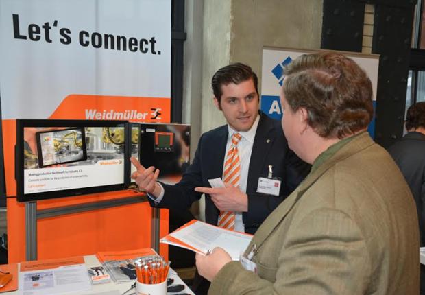 Rund 100 nationale und internationale Journalisten informierten sich im Rahmen der Hannover Messe Preview bei Weidmüller über die Lösungen der Unternehmensgruppe zu den Themen Industrie 4.0 und Energieeffizienz. (Foto:  Weidmüller Interface GmbH & Co. KG)