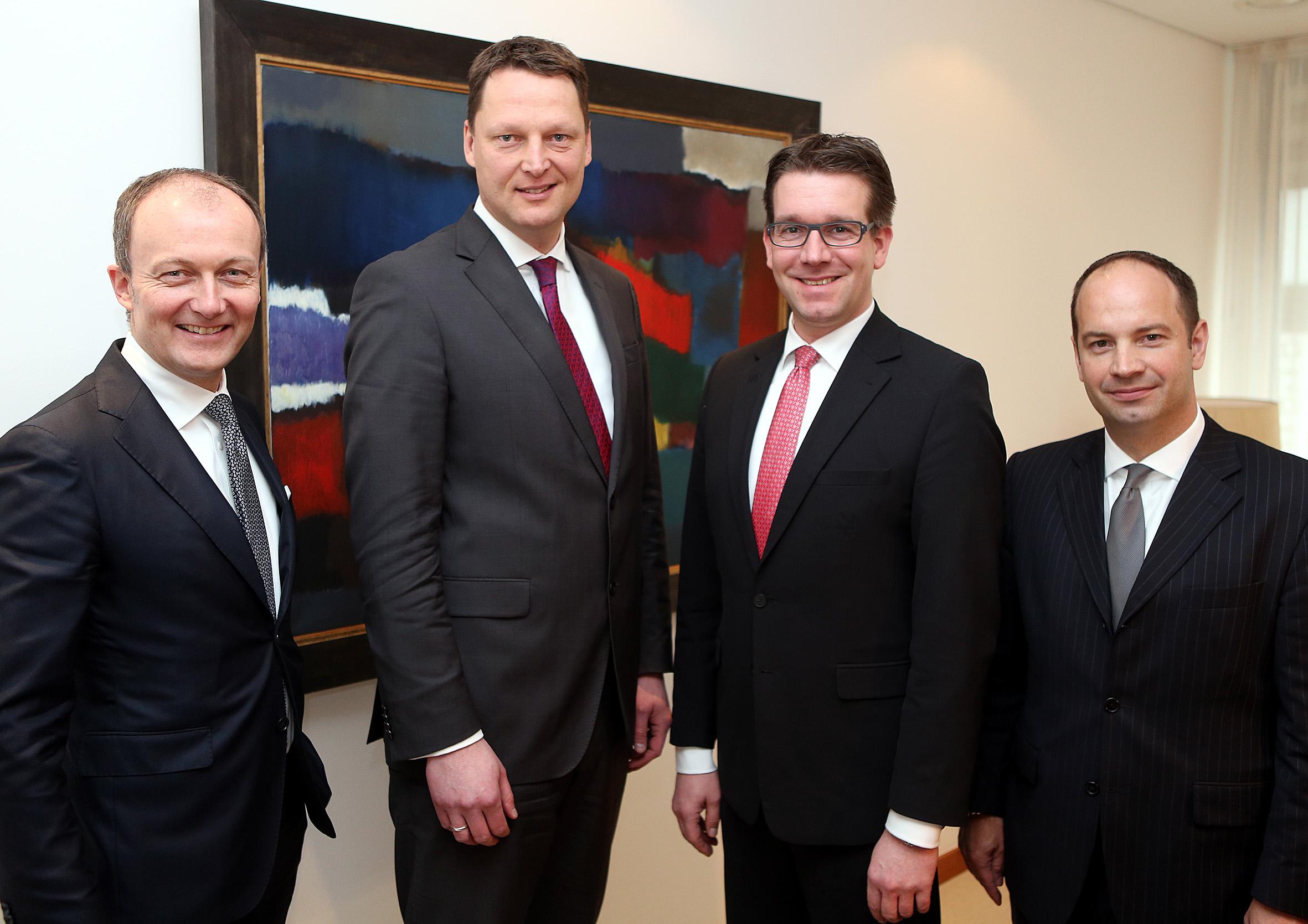v.l.: Alexander Hakenholt, Uwe Hadeler, Alf Meyer zur Heyde, Matthias Scheffner