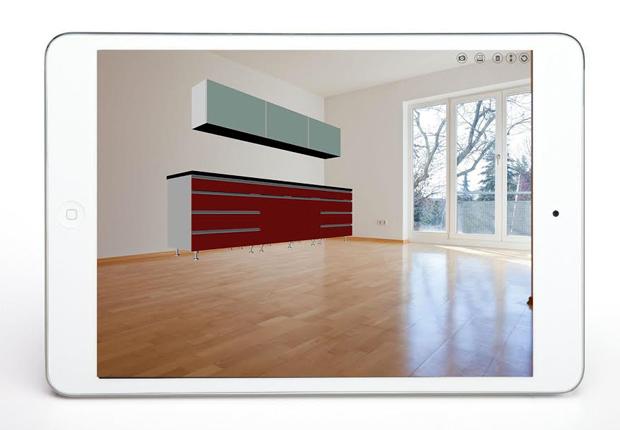 Neu bei imos NET: Die im Internet konfigurierten Möbel können perspektivisch genau in ein digitales Foto projiziert werden. (Foto: imos AG)