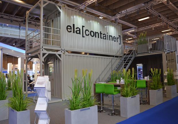 Am Stand C3-B34 wurden der ELA Living Quarter, Podest Container und Trockencontainer ausgestellt. (Foto: ELA Container Offshore GmbH)
