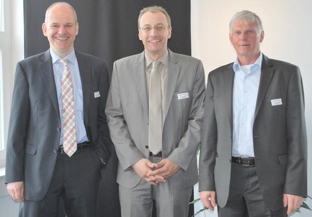 (v.l.n.r.) Volker Johannhörster, Stefan Echterhölter, Reinhold Güldner (Foto: p.l.i. solutions GmbH)