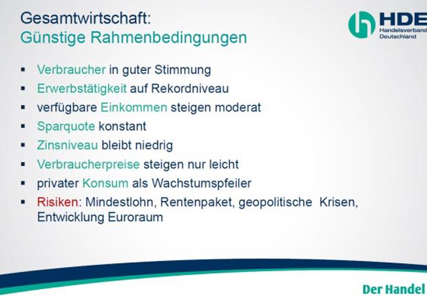 Übersicht zur Jahrespressekonferenz. (Foto: Handelsverband Ostwestfalen-Lippe e. V.)