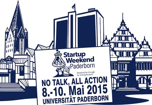 Das Logo des Startup Weekends zeigt die Paderborner Skyline (Foto: TecUP, Universität Paderborn)