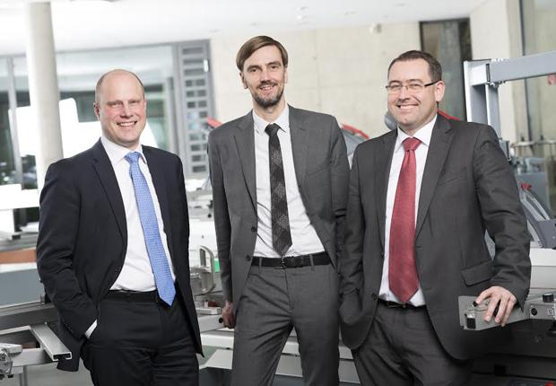 Tom Altendorf, Jörg F. Mayer und Wolfgang Ruhnau (Foto: Wilhelm Altendorf GmbH & Co. KG Maschinenbau)