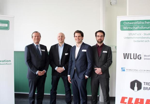 (v.l.n.r.) Rudolf Delius, Jan-Philipp Platenius, Alexander Rüsing und Phillip Marsell. (Foto: STUNT e.V.)