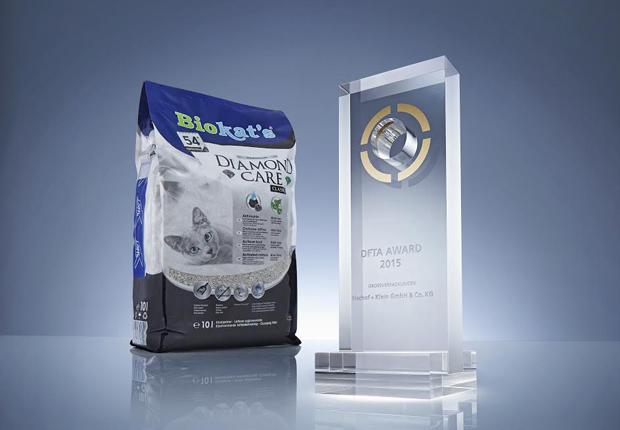 DFTA-Award für Bischof + Klein in der Kategorie der flexiblen Großverpackungen. (Foto: Bischof + Klein GmbH & Co. KG)