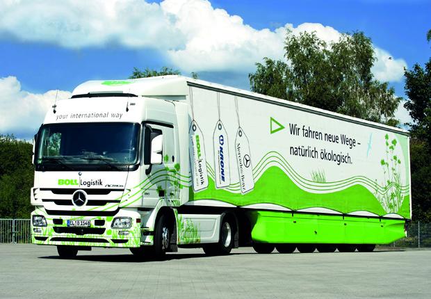 """Der Einsatz des Öko- Trucks ist Bestandteil des """"Grünen Flottenmanagement"""" bei BOLL (Foto: BOLL)"""