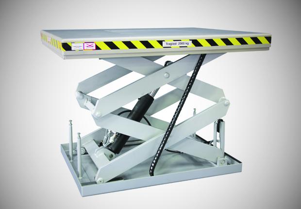 2 Tonnen Hubtisch von Flexlift. (Foto: Flexlift)