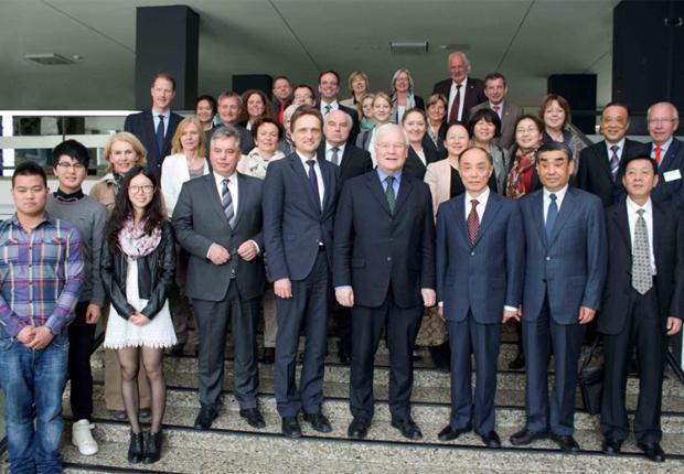 Chinesische Delegation an der Hochschule Osnabrück.