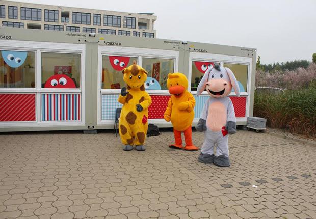 Willkommen in der Ferienwelt – ELA unterstützte Rossmann bei der Umsetzung der Kinderbetreuung. (Foto: ELA Container GmbH)