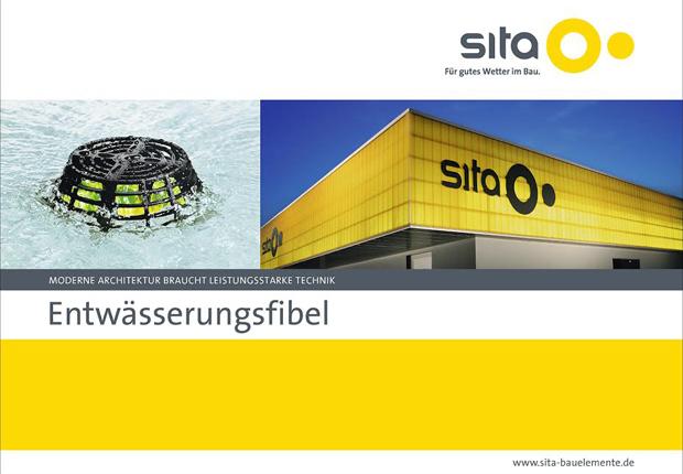 Flachdachentwässerung praktisch: Die neue Sita Entwässerungsfibel bietet alles Wissenswerte in kompakter Form. (Foto: Sita Bauelemente GmbH)