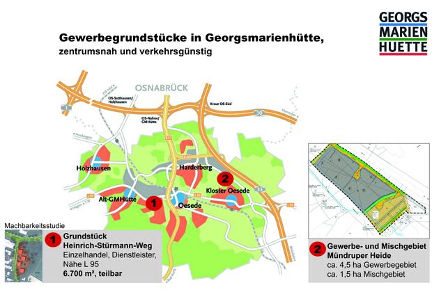 Karte des Gewerbegebietes