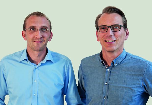 (v.l.:) Andreas Hoppe und Markus Brandt, Geschäftsführer Blond Eventmarketing. (Foto: Blond)