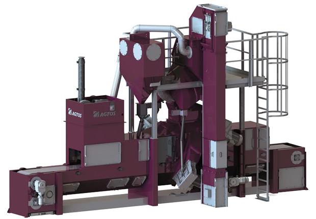 AGTOS-Drahtgurt-Strahlanlage zum Bearbeiten von Druckgussteilen. (Foto: AGTOS)