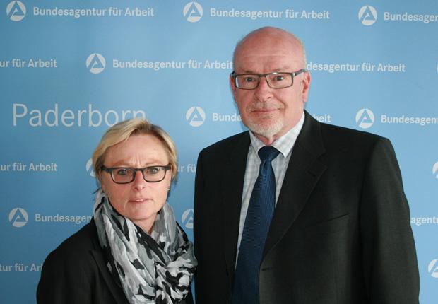Rückkehrexperten der Arbeitsagentur Paderborn Ingrid Tegeler und Heiko Grüterich. (Foto: Agentur für Arbeit Paderborn)