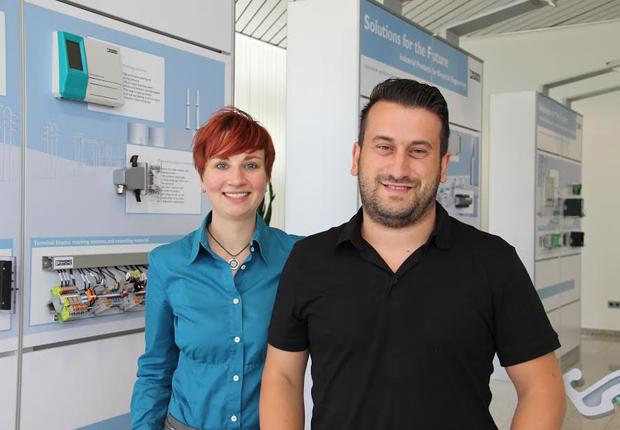 Erfolgreiches Tandem: Mentroin Sarah Pyritz, Phoenix Contact, und Mentee Fatih Ergün, Student Wirtschaftsingenieurswissenschaften an der FH Bielefeld (Foto: PHOENIX CONTACT GmbH & Co.KG)