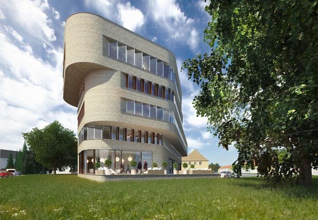 """Entwurf """"Das Winkelhaus"""" gewinnt Findungsverfahren(Quelle: Industriebau HOFF und Partner GmbH)"""