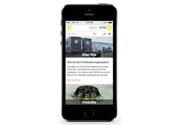 Touchscreen-optimiert: Die neue, mobile Sita Website für Handy und Tablet. (Foto: Sita)