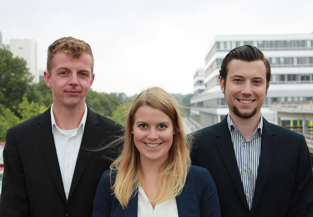 (v.l.n.r.:) Vorstand: Gerrit Schlüter, Lenina Rüpke, Florian Grün (Foto: STUNT e.V)