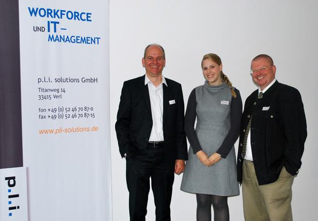 (v.l.n.r.) Volker Johannhörster, Dr. Miriam Sasse, Markus Bode (Foto: p.l.i. solutions GmbH)