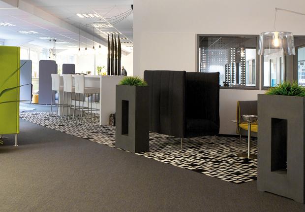 Ein Blick in die neue Communication Area von SMV. (Foto: SMV Sitz- & Objektmöbel GmbH)