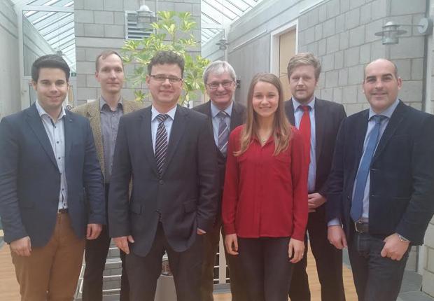 (v.l.n.r.) Chris Dimitrakopoulos (IfB), Wolfgang Keck, Thorsten Brinkmann, Rolf Merchel, Sabine Breitkreuz (alle GILDE), Moritz Lippa (IfB) und Simon Gröger (GILDE)  (Foto: GILDE GmbH)