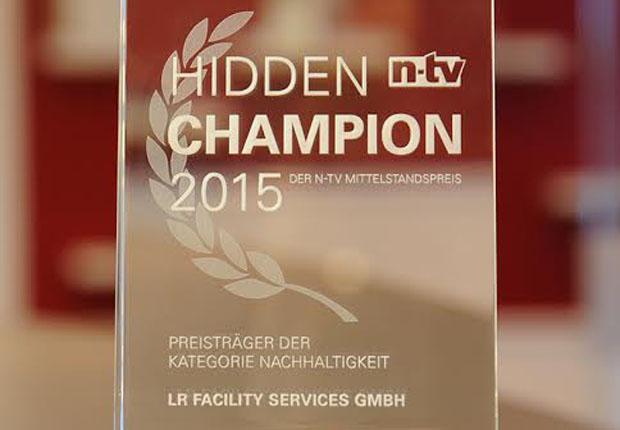 LR Facility Services als Hidden Champion in der Rubrik Nachhaltigkeit ausgezeichnet (Foto: LR Facility Services)
