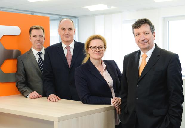 Der Vorstand der Weidmüller Gruppe (v.l.n.r.): Harald Vogelsang (Finanzvorstand), Volpert Briel (Vertriebsvorstand), Elke Eckstein (Vorstand Operations) und Dr. Peter Köhler (Vorstandsvorsitzender) (Foto: Weidmüller)