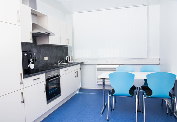 Pause muss sein: Die Küche lieferte ELA gleich mit. (Foto: ELA Container GmbH)
