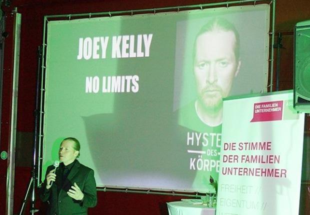 Vortrag mit Joey Kelly in Münster (Foto: kassen & partner diplomvolkswirte partg)