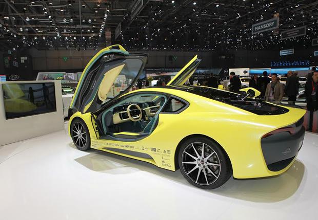 """Die HARTING MICA wird zur unabhängigen Emissions- und Zustands- überwachung im Concept-Car """"Etos"""" von Rinspeed verbaut. (Foto: HARTING)"""