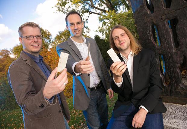 Die drei Gründer der Eologix Sensor Technology GmbH, Dr. Hubert Zangl, Dr. Thomas Schlegl und Dr. Michael Moser (Foto: Eologix Sensor Technology GmbH)