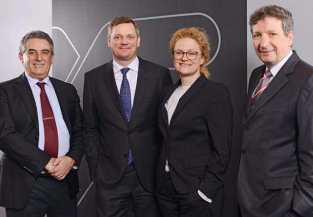 Der Vorstand der Weidmüller Gruppe (v.r.): Dr. Peter Köhler (Vorstandsvorsitzender), Elke Eckstein (Vorstand Operations), Jörg Timmermann (Finanzvorstand) und José Carlos Álvarez Tobar (Vertriebsvorstand). (Foto: Weidmüller)