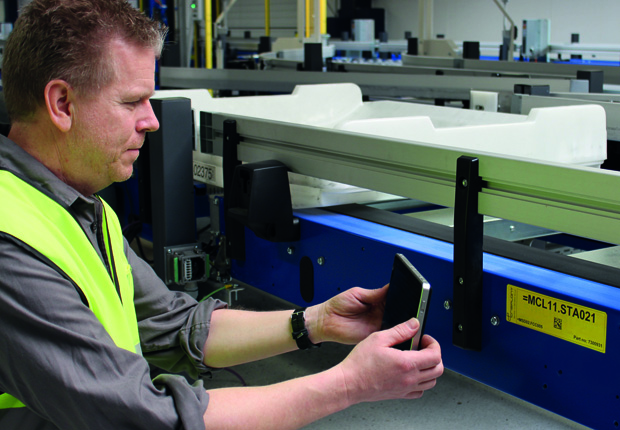 Die BEUMER Group steigert die Effizienz und Sicherheit ihrer Gepäckabfertigungssysteme durch den Einsatz von Tablet-PC (Foto: BEUMER Group)