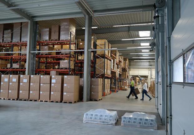 Der neue Umschlagplatz für den Warenein- und Ausgang. (Foto: berbel)
