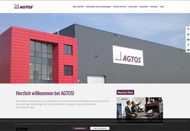 Die Startseite des neuen Internetauftritts von AGTOS. (Foto: AGTOS)