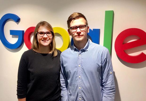 Beate Feldmann und Tobias Jahn von Google Deutschland informieren über die Möglichkeiten und Funktionsweisen. Eingeladen sind alle Vertreter von Unternehmen, die sich für dieses Thema interessieren. (Foto: Google Deutschland)