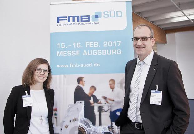 Heike Schmid, Teamleitung Gastveranstaltungen Messe Augsburg und Christian Enßle, Project Management FMB (Foto: GS Media-Service)