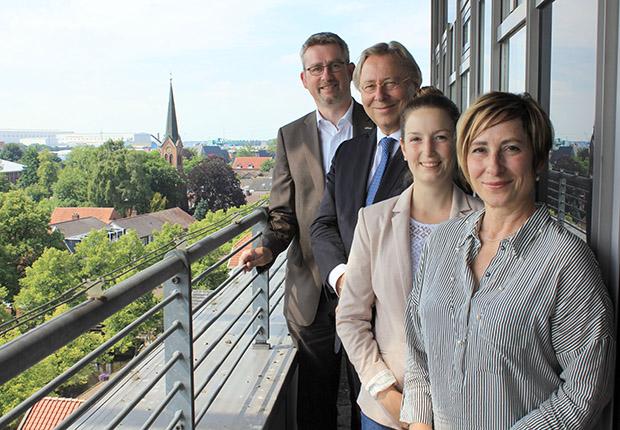Bürgermeister besucht Ems-Achse