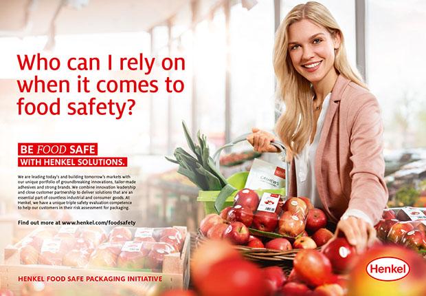 Mit der Initiative Henkels wird die Lebensmittelsicherheit von Verpackungen unter dem Motto Be foodsafein den Fokus gestellt.