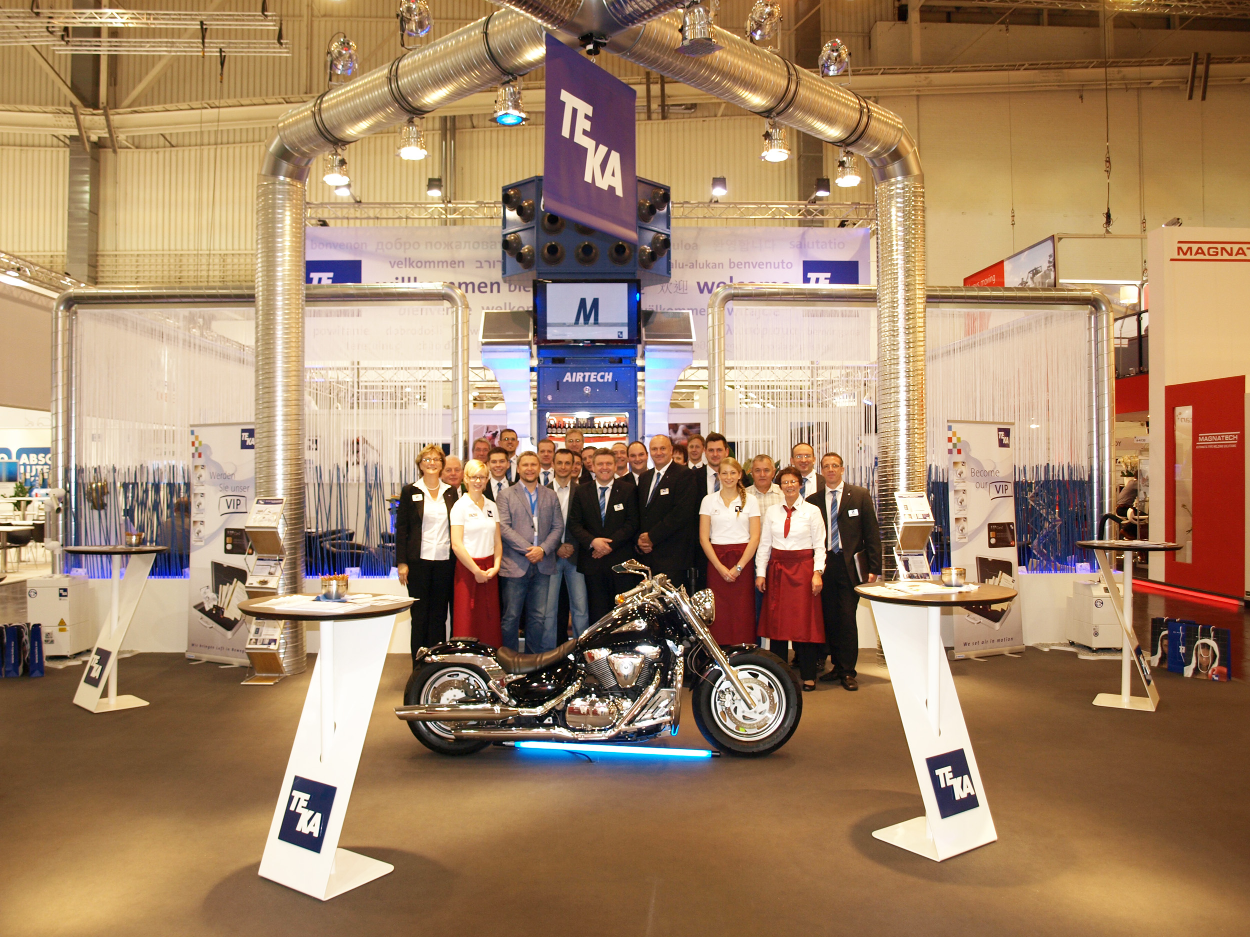 """TEKA präsentiert seine neuen Technologieprodukte auf der """"Schweißen und Schneiden"""" in Düsseldorf (Foto: TEKA)"""