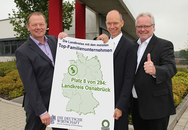 Landkreis Osnabrück in Spitzengruppe bei Top-Familienunternehmen Kreis Ranking der DDW