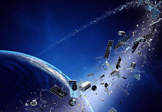 Durch Weltraummüll steigt das Risiko für Kollisionen im All.