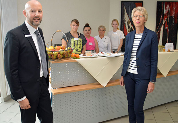 Beim 1. Gesundheitstag haben sich viele Beschäftigte über Ernährung und Gesundheitsvorsorge sowie Fitness am Arbeitsplatz informiert.