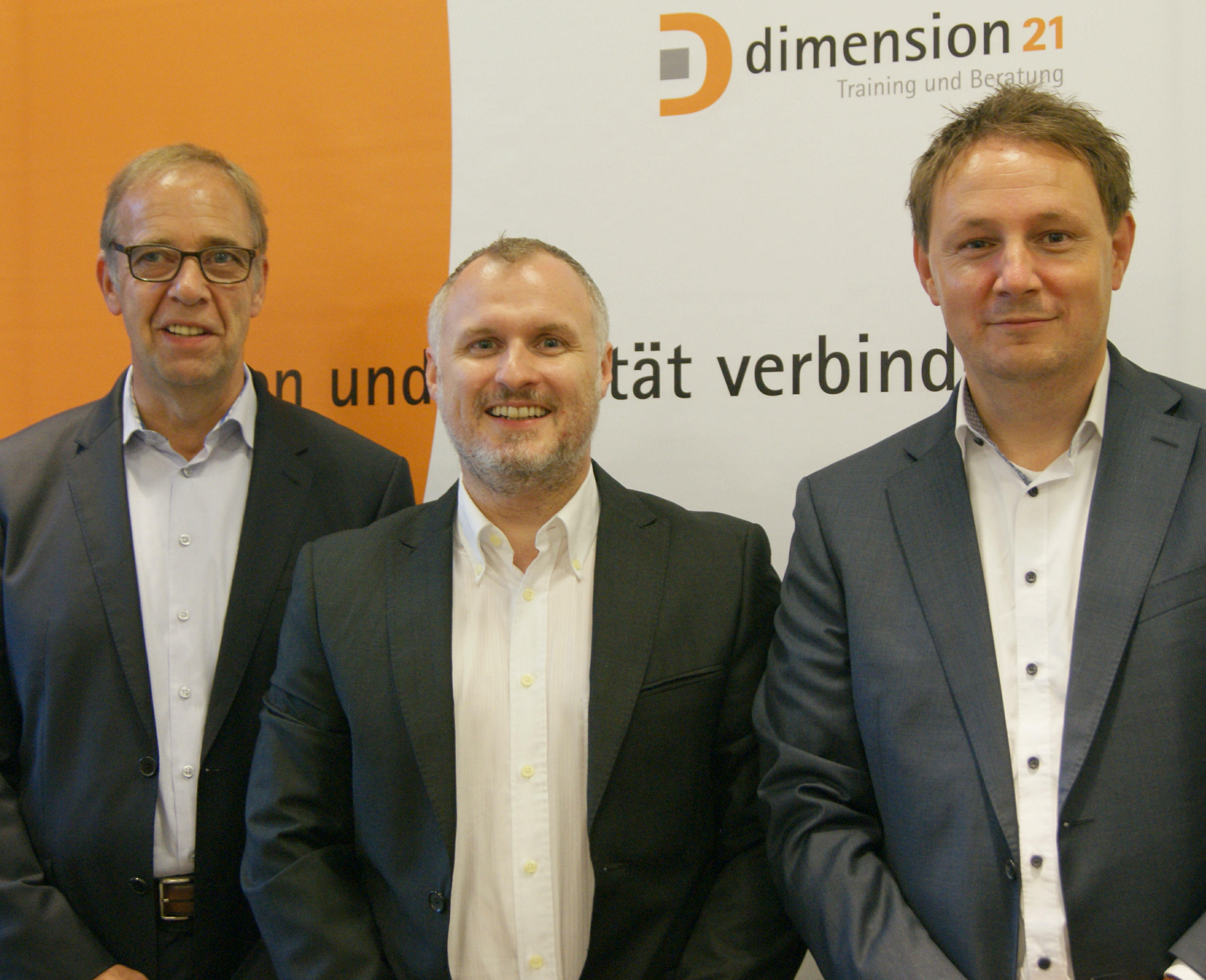 Geschäftsführende Gesellschafter ab dem 01.01.2018: (v. l.:) Helge Werner, Kai Romes und Dr. Christian Kuhlmann (Foto: dimension21)