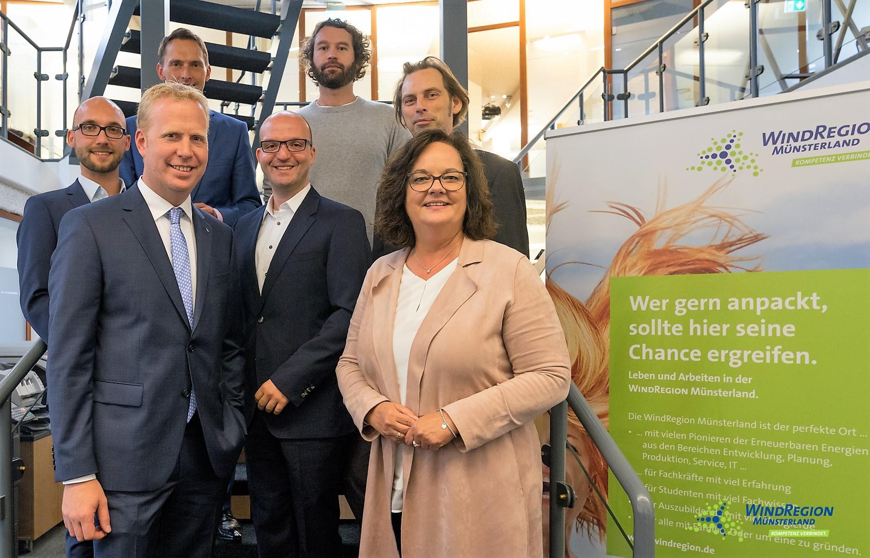 Für die WindRegion Münsterland: CDU-Repräsentanten und Partnerunternehmen (Foto: EWG Rheine)
