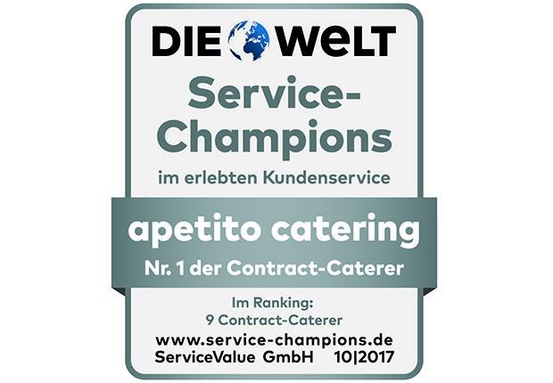 apetito catering ist erneut Service-Champion.