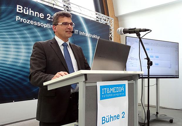 """Unter """"Business 4.0 - Alles wird digital"""" präsentierte, bpi solutions Ansätze für das Büro 4.0 auf dem 2. IT&MEDIA FUTUREcongress."""